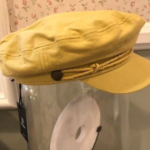 Brixton Accessories - Yellow captains hat cecddf66214a